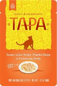 Tapa Pet Food Tender Chicken Breast and Pumpkin Recipe