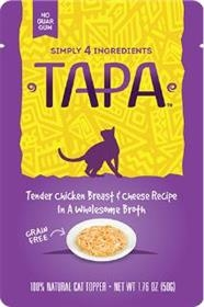 Tapa Pet Food Tender Chicken Breast and Cheese Recipe