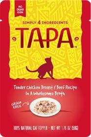 Tapa Pet Food Tender Chicken Breast and Beef Recipe