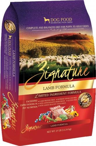 Zignature Dry Dog Food Lamb Flavor