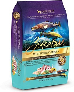 Zignature Dry Dog Food Whitefish Flavor
