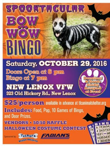 Spooktacular Bow Wow Bingo at New Lenox VFW