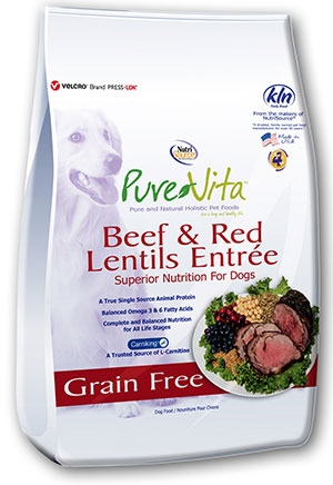 Pure Vita Grain Free Beef & Red Lentils Dry Dog Food
