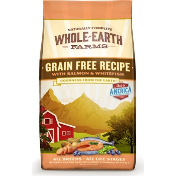 Whole Earth Farms Grain Free Salmon & Whitefish Dry Dog Food