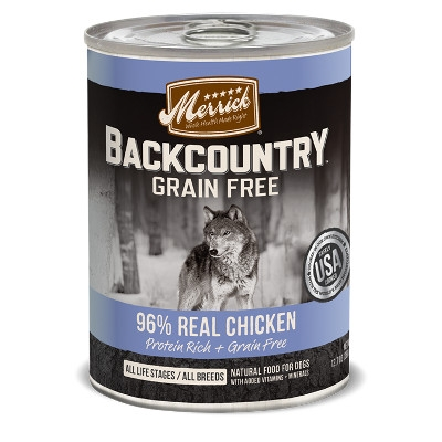 Backcountry Grain Free 96% Real Chicken Canned Dog Food, 12.7 oz.