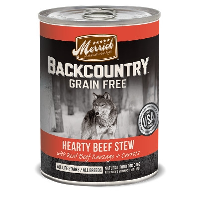 Backcountry Hearty Beef Stew Canned Dog Food, 12.7 oz.