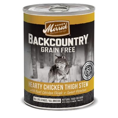 Backcountry Hearty Chicken Thigh Stew Canned Dog Food, 12.7 oz.
