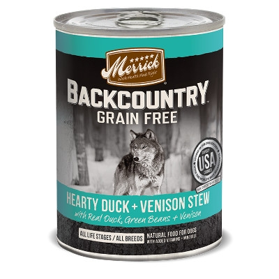 Backcountry Hearty Duck & Venison Stew Canned Dog Food, 12.7 oz.