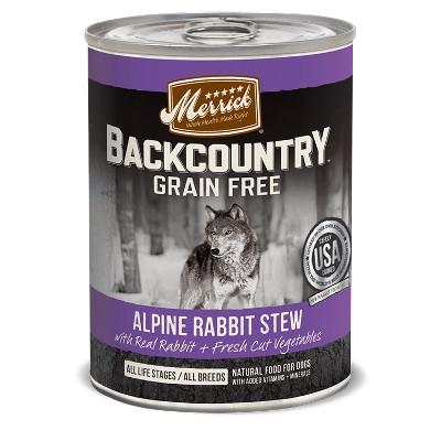 Backcountry Apline Rabbit Stew Canned Dog Food, 12.7 oz.