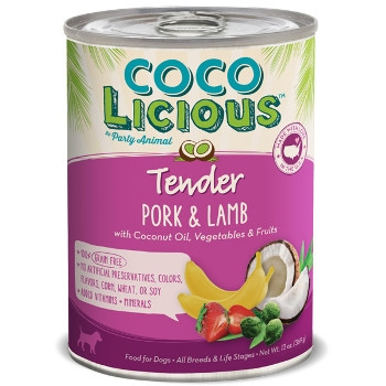 Cocolicious Tender Pork & Lamb Canned Dog Food, 13 oz.
