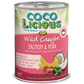 Cocolicious Wild Caught Salmon & Pork Canned Dog Food, 13 oz.