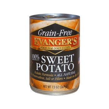 100% Grain Free Sweet Potato Canned Cat and Dog Food, 13 oz.
