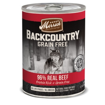 Backcountry 96% Real Beef Canned Dog Food, 12.7 oz.