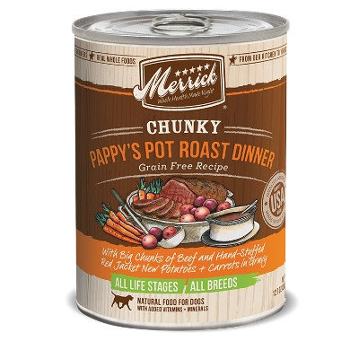 Grain Free Chunky Pappy's Pot Roast Canned Dog Food, 12.7 oz.