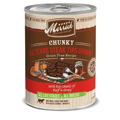 Grain Free Chunky Big Texas Steak Tips Canned Dog Food, 12.7 oz.