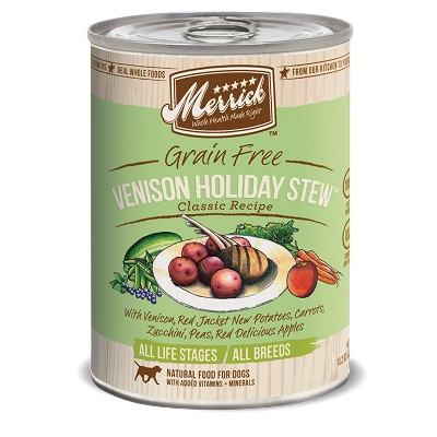 Grain Free Classics Venison Holiday Stew Canned Dog Food, 13.2 oz.
