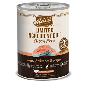 Limited Ingredient Grain Free Real Salmon Canned Dog Food, 12.7 oz.