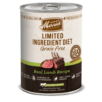 Limited Ingredient Grain Free Real Lamb Canned Dog Food, 12.7 oz.