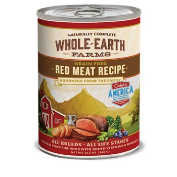 Whole Earth Farms Grain Free Red Meat Canned Dog Food, 12.7 oz.