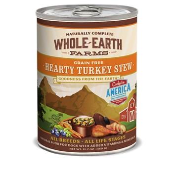 Whole Earth Farms Grain Free Hearty Turkey Stew Canned Dog Food, 13 oz.