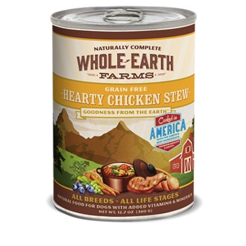 Whole Earth Farms Grain Free Hearty Chicken Stew Canned Dog Food, 13 oz.
