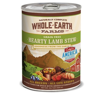 Whole Earth Farms Grain Free Hearty Lamb Stew Canned Dog Food, 13 oz.