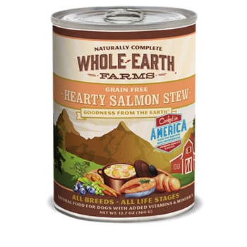 Whole Earth Farms Grain Free Hearty Salmon Stew Canned Dog Food, 12.7 oz.