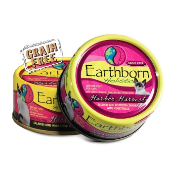 Earthborn Holistic Grain Free Harbor Harvest Wet Cat Food, 3 oz.