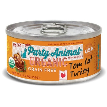 Organic Grain Free Turkey Canned Cat Food