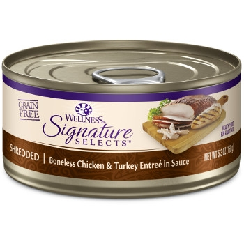 WellnessCORE® Signature Selects® Shredded Chicken & Turkey Canned Cat Food