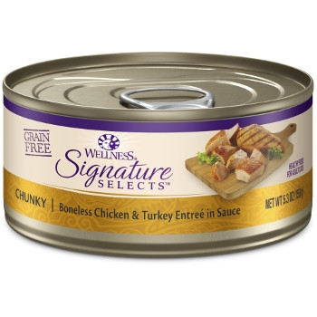 Wellness CORE® Signature Selects® Chunky Chicken & Turkey Canned Cat Food