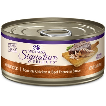 WellnessCORE® Signature Selects® Shredded Chicken & Beef Canned Cat Food