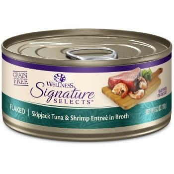 Wellness CORE® Signature Selects® Flaked Skipjack Tuna & Shrimp Canned Cat Food