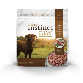 Instinct Grain Free Raw Frozen Duck Bites for Dogs