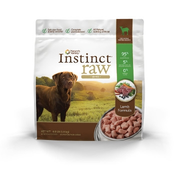 Instinct Grain Free Raw Frozen Lamb Bites for Dogs