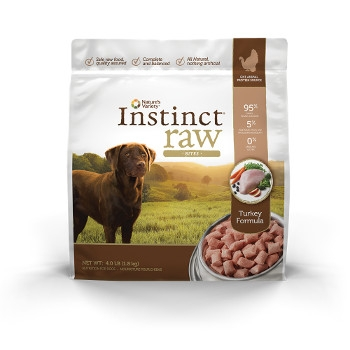 Instinct Grain Free Raw Frozen Turkey Bites for Dogs