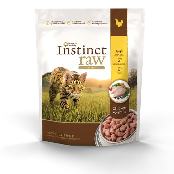 Instinct Grain Free Raw Frozen Chicken Bites for Cats