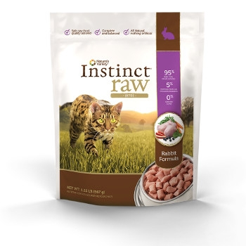 Instinct Grain Free Raw Frozen Rabbit Bites for Cats