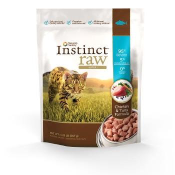 Instinct Grain Free Raw Frozen Chicken & Tuna Bites for Cats