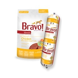 Bravo All Natural Raw Chicken Patties for Dogs