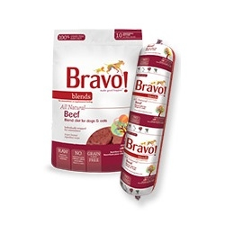 Bravo All Natural Raw Beef Patties for Dogs