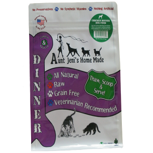 Aunt Jeni's Chicken Frozen Raw Dinners for Dogs