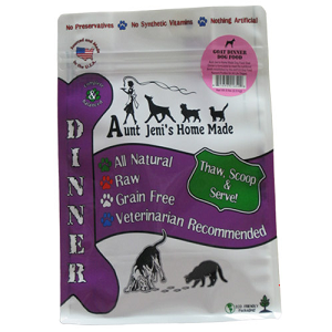 Aunt Jeni's Goat Frozen Raw Dinners for Dogs