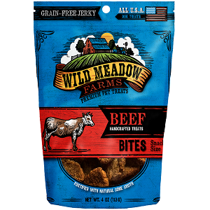 Grain Free Beef Bites Soft Jerky Dog Treats