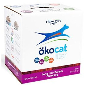 Okocat Natural Wood Clumping Cat Litter For Long Hair Breeds