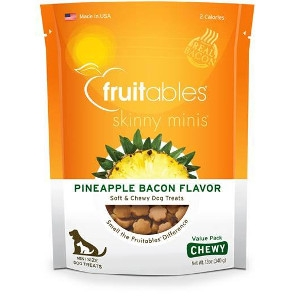Fruitables Pineapple Bacon Flavor Soft & Chewy Dog Treats