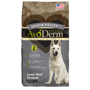 AvoDerm Senior Health+ Grain Free Lamb Meal Formula