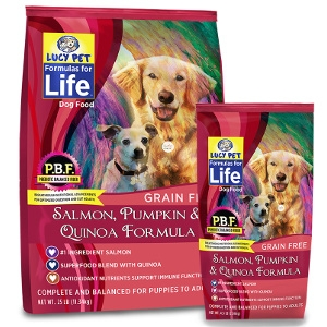 Lucy Pet's Salmon, Pumpkin & Quinoa Formula For Dogs
