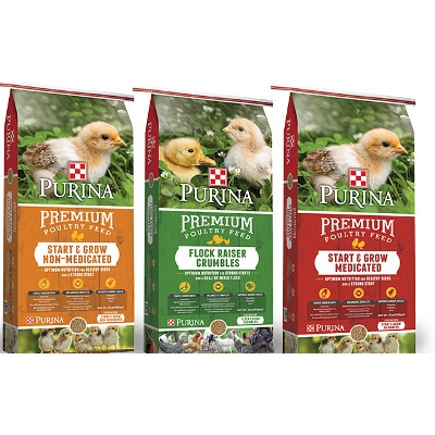 Save on these 50# Purina Chick Feeds
