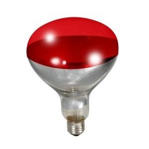 Red Heat Lamp Bulb, 250watt